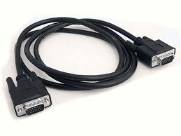 VGA cable to connect PC, DVR or NVR to Monitor