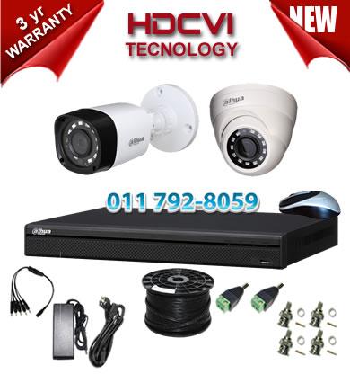 4 Channel 720P HDCVI DVR + 1 x 1Mp 720P IR HDCVI Dome Camera + 1 x 1Mp 720P IR HDCVI Bullet Camera - No HDD
