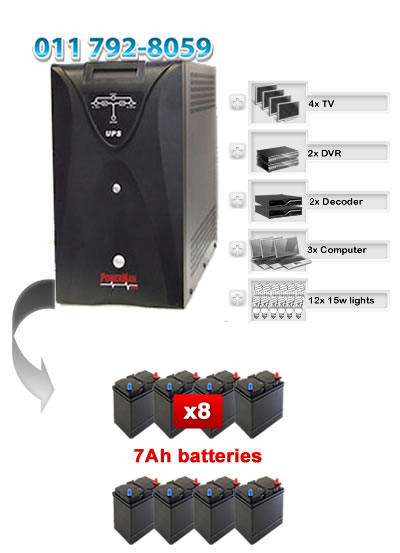 Online Double Conversion UPS 3000VA - PowerMan PM923
