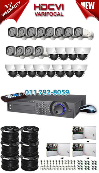 Dahua HDCVI - 32 Ch DVR + 24 x Varifocal 720P dome/bullet cameras (2.7-12mm zoom) with 30m IR