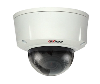 Dahua 1.3 Megapixel Water-Proof & Vandal-Proof DWDR 2.7 ~ 9mm Lens 20m IR Network Dome Camera with Audio Jack