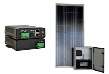 Solar Powered 30W POE Port output 12Vdc Injector & Kit