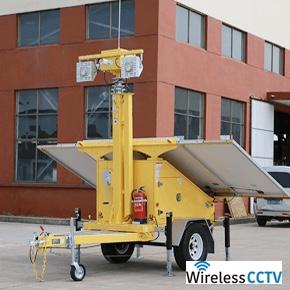 Mobile Solar CCTV Trailer - WCCTV-1200A-C