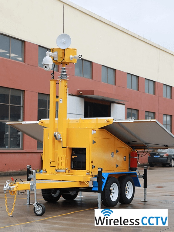 Mobile Solar CCTV Trailer - WCCTV-1200B-C