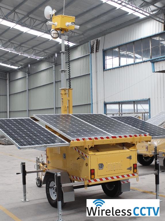 Mobile Solar CCTV Trailer - WCCTV-1200C-C