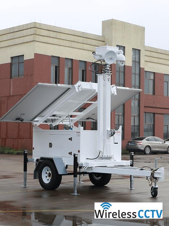 Mobile Solar CCTV Trailer - WCCTV-900B-C-4