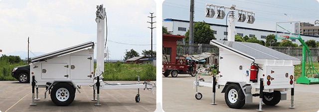 Mobile Solar Light Trailer - WCCTV-1200A-L