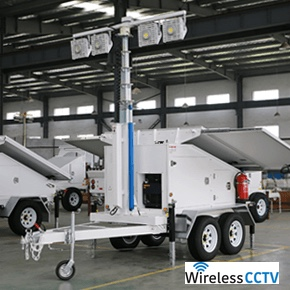 Mobile Solar Light Trailer - WCCTV-1200B-L