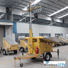 Mobile Solar Light Trailer - WCCTV-1200C-L