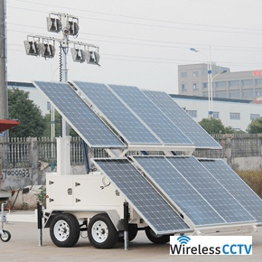Mobile Solar Light Trailer - WCCTV-2400B-L