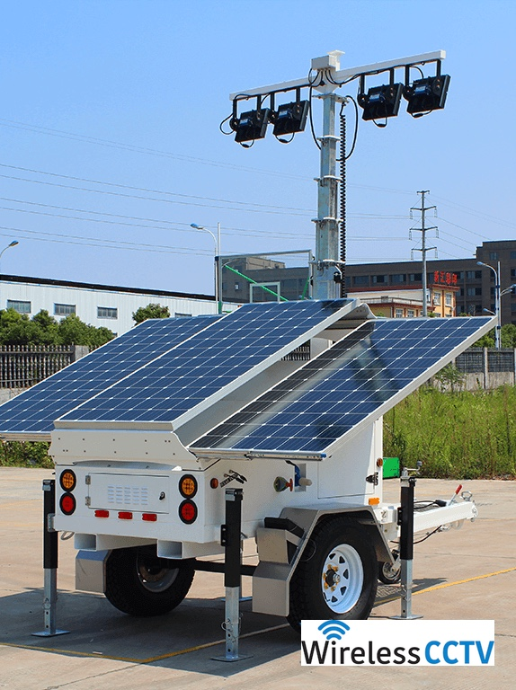 Mobile Solar Light Trailer - WCCTV-900A-L