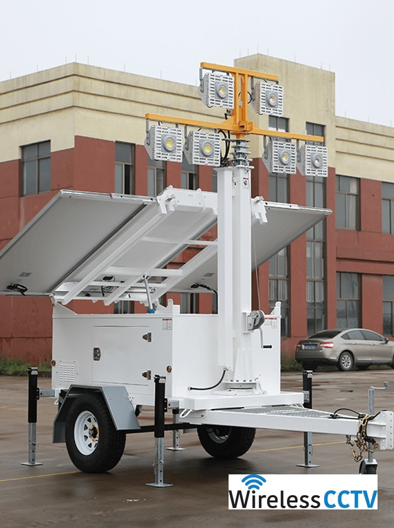 Mobile Solar Light Trailer - WCCTV-900B-L