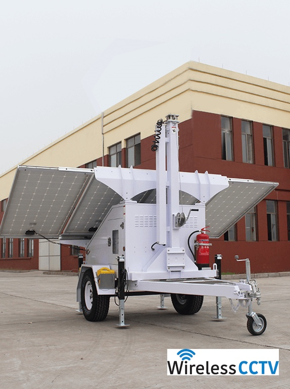 Mobile Solar Power Trailer - WCCTV-1200A