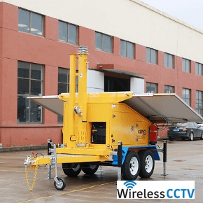 Mobile Solar Power Trailer - WCCTV-1200B