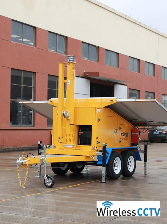 Mobile Solar Power Trailer - WCCTV-1200B