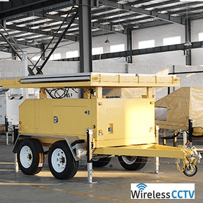 Mobile Solar Power Trailer - WCCTV-1200C