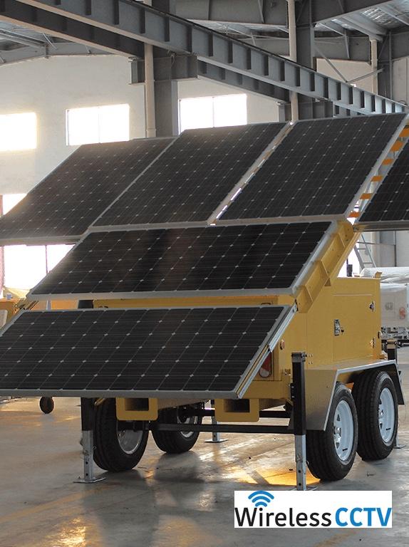 Mobile Solar Power Trailer - WCCTV-1200C