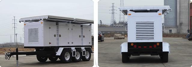 Mobile Solar Power Trailer - WCCTV-2400C