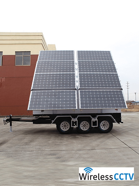 Mobile Solar Power Trailer - WCCTV-2400C