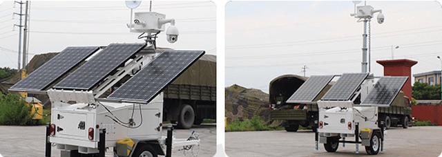 Mobile Solar CCTV Trailer - WCCTV-600A-C