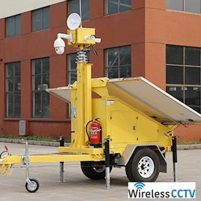 Mobile Solar CCTV Trailer - WCCTV-900A-C