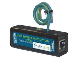 CLEARLINE Gigabit Single Port RJ45 60V POE Surge Protector