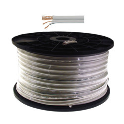 RG59 Coaxial Power Cable White 100m CB10-1