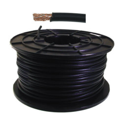 RG59 Military spec Cable Black 100m (no power) CB10
